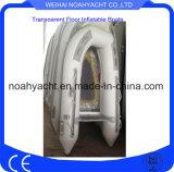 Barca gonfiabile prefabbricata di Cerificated Weihai del Ce con il pavimento trasparente