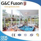 De Huizen en Modern Glas Sunroom van het Glas van de Comités van het Aluminium van de bouw