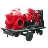 트레일러를 가진 비상사태 디젤 엔진 화재 싸움 수도 펌프