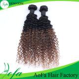extensão do cabelo humano do vison do cabelo do Virgin da onda do corpo de Ombre da classe 7A