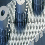 Las placas de plástico del piñón de cadena modular cinta transportadora para procesamiento de comida