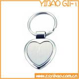 Coração de liga de zinco chaveiro com o logotipo personalizado (YB-K-020)