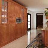De Keukenkasten van de Villa van het Project pvc van de Douane van Oppein (OP14-PVC09)