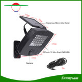 Luz de inundación solar 30 LED de alto brillo de luz solar recargable con sensor de movimiento de luces de pared de seguridad