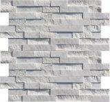 Revestimento de mármore branco da parede de pedra da cultura de Carrara