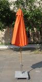 Parasol anaranjado de centro del jardín del patio del color de poste 2.7meter de la fibra de vidrio de Newborms para la piscina de la cubierta del hotel