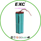 FCC RoHS 14.8V van Ce Pak van 18650 Batterij van het Leven van de Cyclus van het Pak van de Batterij van Li het Ionen Lange Navulbare
