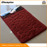 Stuoie di corallo impresse del pavimento del portello dei Doormats della gomma piuma di memoria del panno morbido della peluche della flanella 3D
