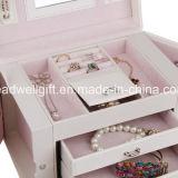 Случай хранения состава коробки ювелирных изделий Lockable с зеркалом