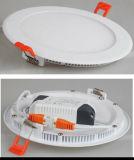 Do TUV do diodo emissor de luz luz de painel clara do diodo emissor de luz da forma redonda para baixo