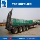 Aanhangwagen van de Vrachtwagen van het Bed van de titaan de Lage voor Singapore