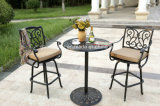 2人の黒いチェック模様の鋳造アルミの屋外のテラスの庭のベンチ