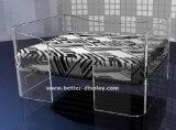 도매 호화스러운 명확한 아크릴 애완견 침대