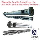 En paralelo bimetálica de PVC de doble husillo/WPC/PE Máquina de plástico de madera