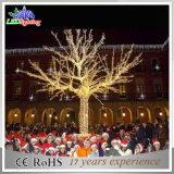 Im Freien blaues Weihnachtslicht des Baum-3D für Supermarkt