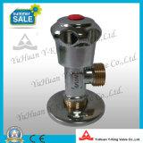 Rápido de latón Abrir válvula de ángulo con el cinc de la manija (YD-B5022)