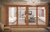 Приятный дизайн красного цвета из дерева стекло благоухающем курорте алюминиевые раздвижные двери