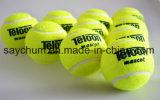 Bola de ténis para o treinamento de 100% de fibras sintéticas boa bola de ténis de borracha padrão de concorrência bola de ténis