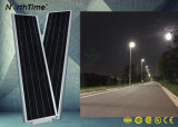 Luz de rua elevada completa do diodo emissor de luz do painel solar dos lúmens 18V 90W