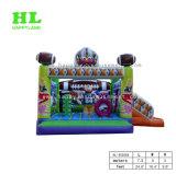 Fußballspiel-aufblasbares kombiniertes, federnd Schloss