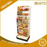Banchi di mostra d'attaccatura personalizzati supermercato dello spuntino del metallo di marchio