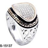 Recentste Modellen 925 van de fabriek de Echte Zilveren Ring van Mensen