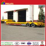2 essieux en acier inoxydable Lowbed semi-remorque de la suspension pneumatique