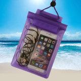 Sacchetto impermeabile all'ingrosso della spiaggia del PVC per il telefono mobile
