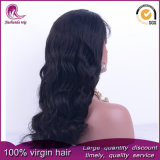 Grande parrucca cinese ondulata nera naturale del merletto della parte anteriore dei capelli del Virgin