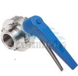 Санитарные стальной сварной /зажим /резьбовой мужской двухстворчатый клапан