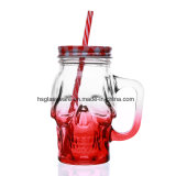 450ml Crânio Mason Jar caneca de vidro