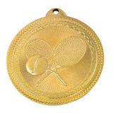 Medaglia antica di maratona dell'oro di sport con la sagola