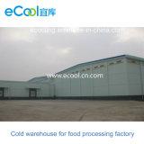 Tamanho personalizado de armazenamento a frio para a fábrica de processamento de produtos hortícolas
