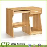 حصص كبيرة خشبيّة طاولة تصميم طالب حاسوب مكتب مع رفّ كتب
