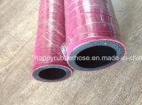 Boyau en caoutchouc résistant de vapeur de température élevée de la chaleur de tresse de tissu ou de fil