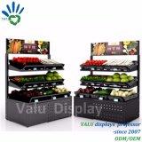 3 capas de la fruta del almacenaje del estante de /Vegetable del estante de visualización inclinado supermercado