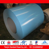 Bobine en acier enduite par couleur vert-bleu PPGI de Ral 5001