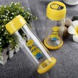 Бутылка воды напольной стеклянной чашки цветастых детей портативная стеклянная