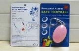 Многоцветный яйцо форма леди детей личной безопасности сигнал тревоги с помощью передвижных кольца для ключей