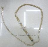 Accessori a cristallo dell'indumento del vestito dalle cinghie del metallo della catena della vita del Rhinestone di modo