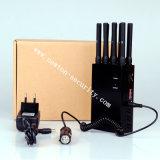 8 brouilleur tenu dans la main de Lojack de WiFi du portable GPS des bandes 2g 3G 4G avec le chargeur de véhicule