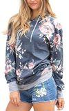 포켓을%s 가진 여자 Hoodie 주문을 받아서 만들어진 꽃 인쇄된 스웨트 셔츠