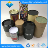 Kundenspezifischer Eco biodegradierbarer Papierbehälter-runder Zylinder-verpackendes Papiergefäß