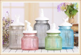Venta caliente de uso diario, frascos de vidrio decorativo de cerámica con tapa