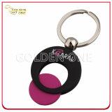 カスタム罰金の磨かれた金属のショッピングトロリー硬貨Keychain