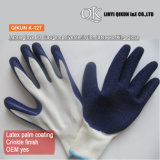 K-126 13 Gauges Polyester Nylon Crinkle Latex Working Safety Gloves