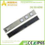 50W integrado/todos em uma rua de LED Solar Luz com controle remoto