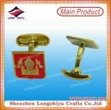 Cufflinks Van uitstekende kwaliteit van de Opschepperij van de Douane van de fabriek Zilveren