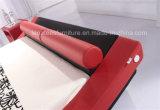 Красная кожаный кровать секса самомоднейшей конструкции A022