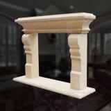 Camino di marmo liscio con qualità Mano-Intagliata fine e stile semplice